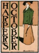 Vintage Art Nouveau, Edward Penfield, Harper's October Advertising Poster.